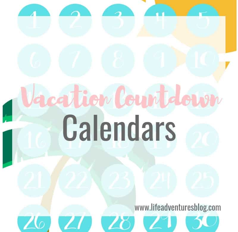 photograph about Countdown Printable identified as Holiday vacation Countdown Calendars - Daily life Adventures